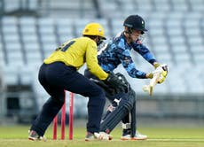 Harry Brook and Jordan Thompson's record stand helps Yorkshire to Blast victory
