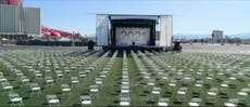 Ex-NRA president tricked into addressing 3000 empty seats at symbolic graduation of students killed by gun violence