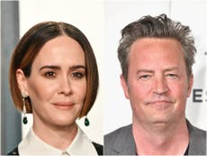 Sarah Paulson recalls 'awkward' encounter with Friends star Matthew Perry at 'make-out party'