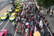 Thai pro-democracy activists march against government