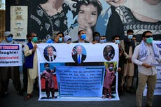 Afghans who worked as interpreters for US troops hold rally