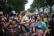 Big Pride parade in Paris; Turkish police stop marchers