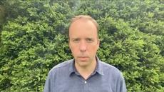 Watch Matt Hancock's video resignation