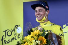 Mathieu Van der Poel earns yellow jersey with emotional Tour de France stage win