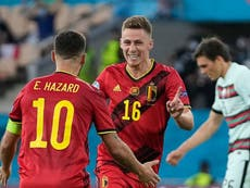 Belgium vs Portugal player ratings: Hazard brothers impress as Red Devils head into Euro 2020 last eight