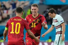 Belgium hold off Portugal to set up Euro 2020 quarter-final against Italy