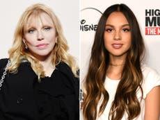 Courtney Love criticised for attacking Olivia Rodrigo over album cover