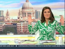 GMB: Susanna Reid has dig at Piers Morgan after co-host walks off set – 'We've an issue with people leaving the studio'