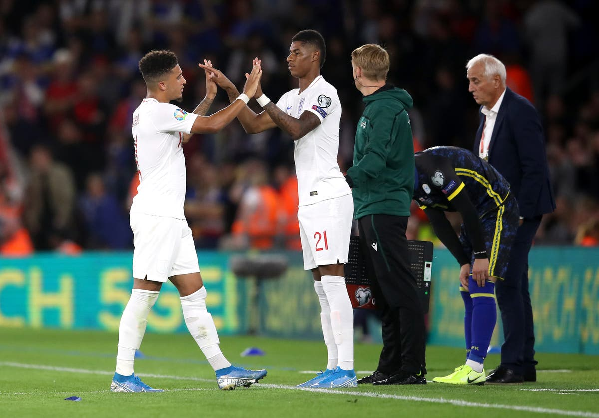 Jadon Sancho could be key to England victory over Germany, says Marcus Rashford