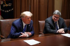 Trump calls Barr 'afraid,' 'weak,' 'pathetic' in second outburst at his ex-AG after revelations in new book
