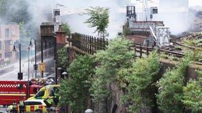 象の近くの火事に救急隊が参加 & ロンドンの城鉄道駅
