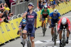 Tim Merlier wins stage three of Tour de France after another chaotic race