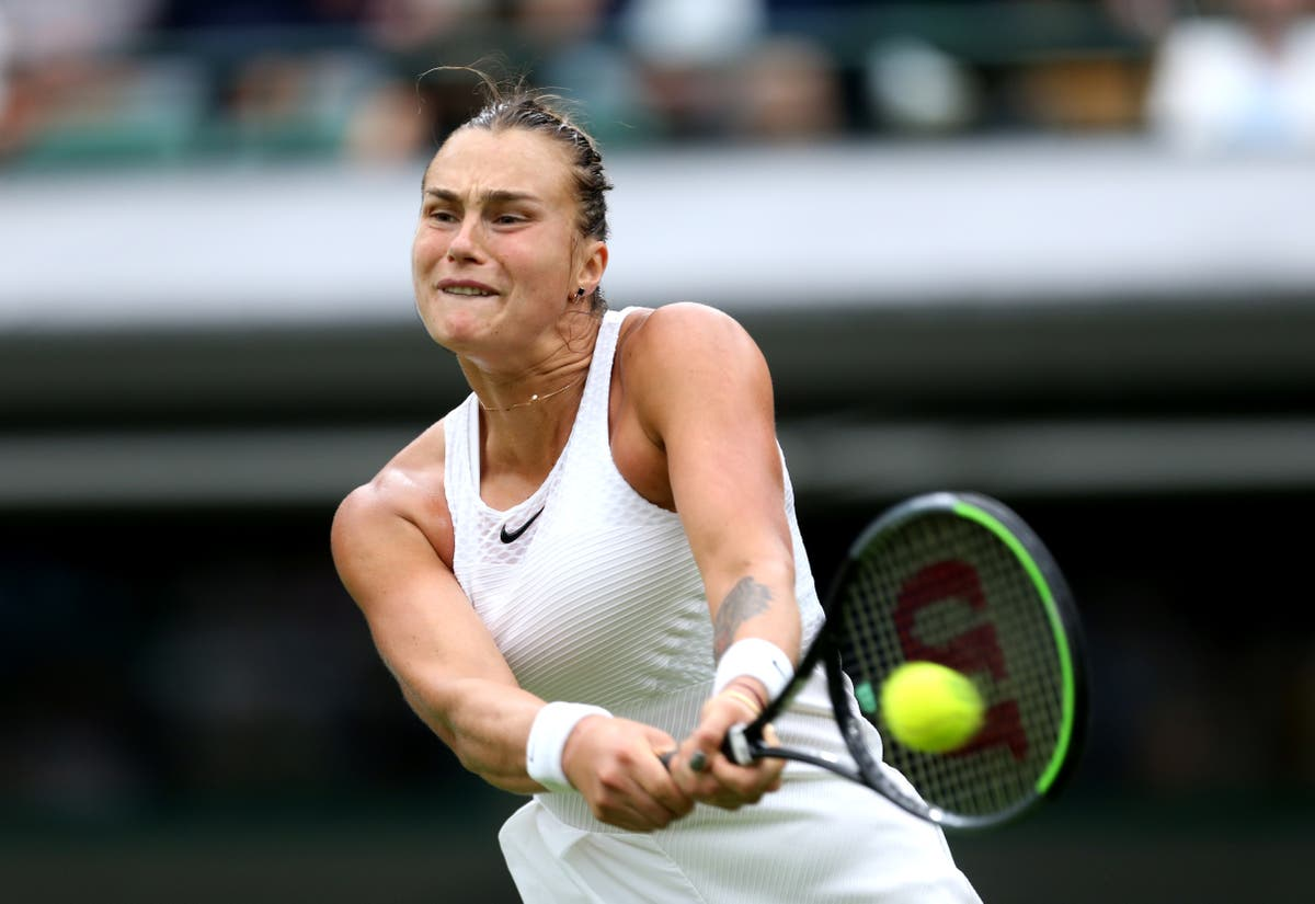 Second seed Aryna Sabalenka battles opening-day nerves to book spot in round two