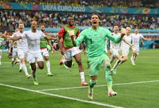 Euro 2020: Switzerland beat world champions France in penalty shootout after night of high drama