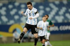 Lionel Messi: Argentina star moves into top 10 of international goalscorers