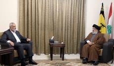 Hezbollah leader, Hamas chief talk recent Gaza war in Beirut