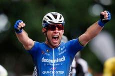 Emotional Mark Cavendish celebrates first Tour de France stage win since 2016