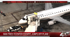 Man who jumped from moving plane says he bought 'a lot' of crystal meth before boarding