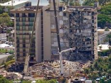 Photos show extent of devastation at Miami condo collapse