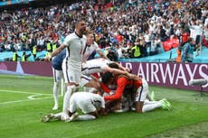 英格兰击败德国晋级欧元 2020 四分之一决赛