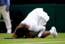 Serena Williams retires hurt from her first-round match after fall at Wimbledon
