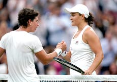 Wimbledon day two: Ashleigh Barty pushed hard by Carla Suarez Navarro