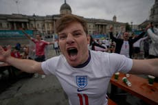 'I think it's coming home': England fans in Trafalgar Square find their voice – and some confidence