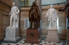 House votes to remove Confederate monuments and bust of judge who supported slavery from US Capitol