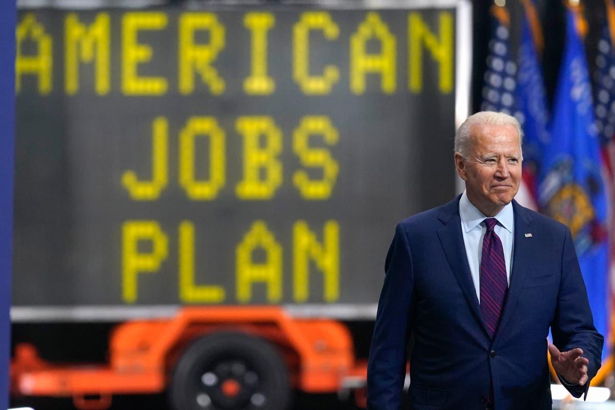 Roads, bridges, jobs: Biden selling big infrastructure deal