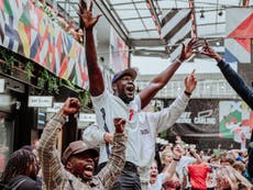 Stormzy attends fan's Euro 2020 party after watching England defeat Germany