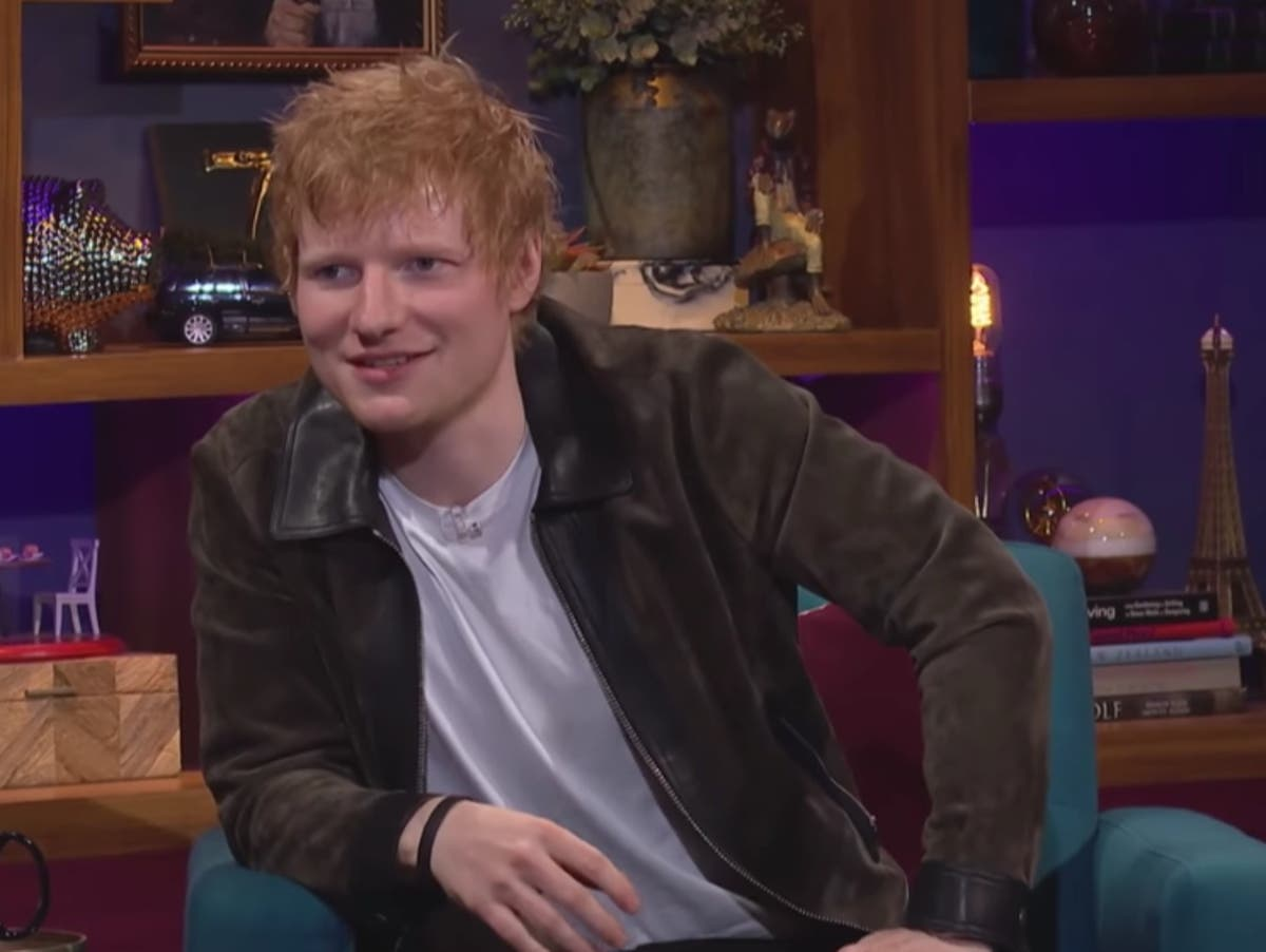 Ed Sheeran plays a prank on Courteney Cox every time he visits her home