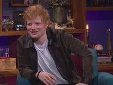 Ed Sheeran plays a prank on Friends star Courteney Cox every time he visits her home