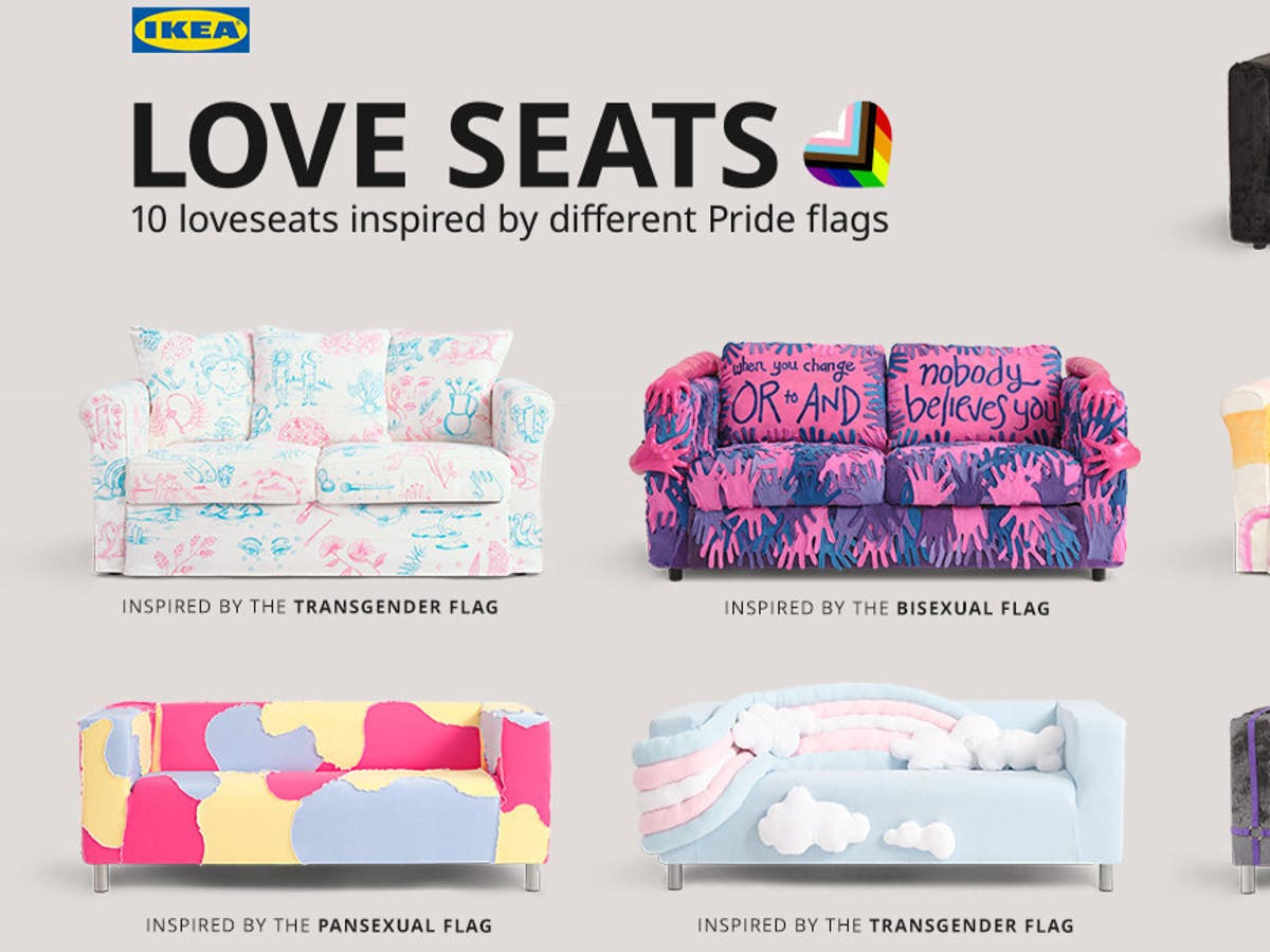 'Odd corporate robotic pride couches': Social media users mock Ikea's new Pride sofa collection