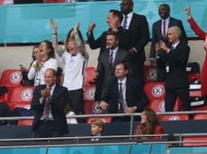 Euro 2020: England v Germany game reaches audience peak of 20.6 million as Ed Sheeran and David Beckham spotted at Wembley