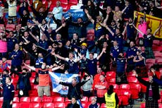 Coronavirus: Almost 1,300 new cases linked to Scottish fans travelling to London for Euro 2020 match