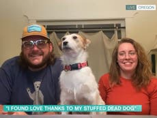 This Morning interviews couple brought together by man's stuffed dog: 'It definitely made him stand out during lockdown'