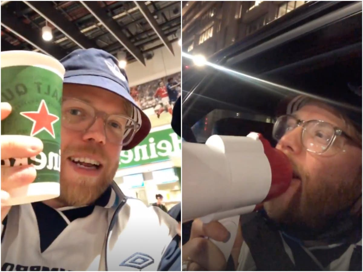 Rob Beckett shared every detail of his wild England v Germany experience on Instagram