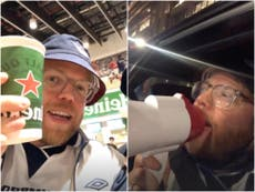 Euro 2020: Rob Beckett hilariously documents his rowdy England v Germany experience on Instagram