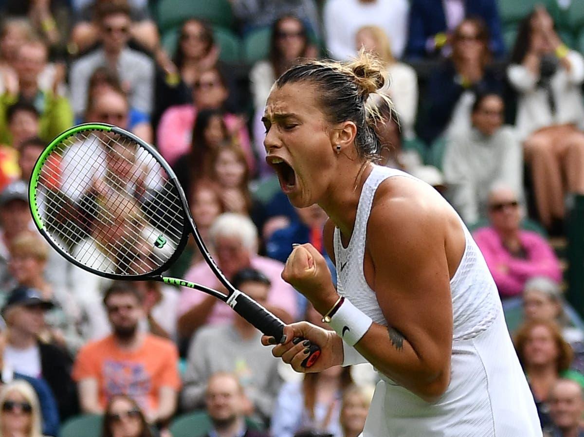 Katie Boulter nektet eventyrvinst av Aryna Sabalenka da toppfrø faller på Wimbledon