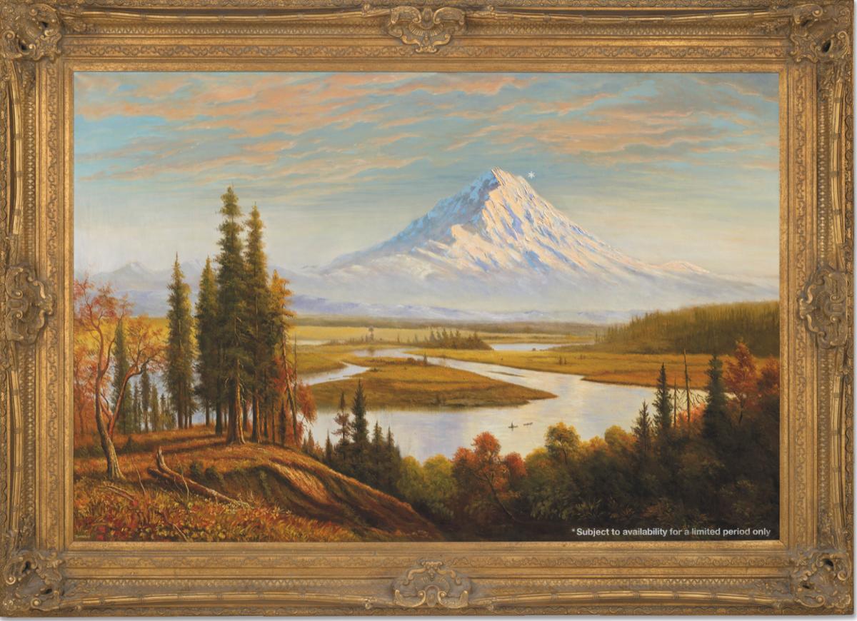 Banksy-maleri av Washingtons Mount Rainier som gir brutal kritikk av klimakrisen, selger for $ 6,3 millioner