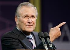 唐纳德拉姆斯菲尔德, a cunning leader undermined by Iraq war