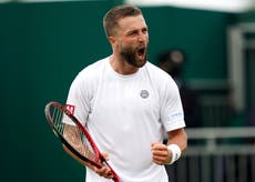 Liam Broady sets sights on reaching top 100 after battling Wimbledon defeat
