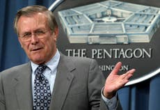 Donald Rumsfeld: From the 'known unknowns' to defence of prisoner 'torture'