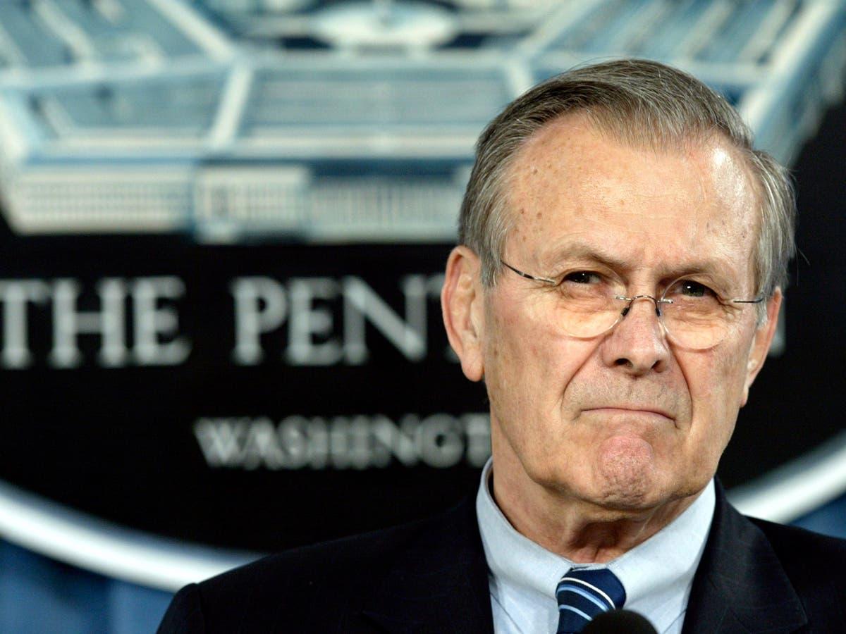 Donald Rumsfeld: Defence secretary who led the US into the Iraq War