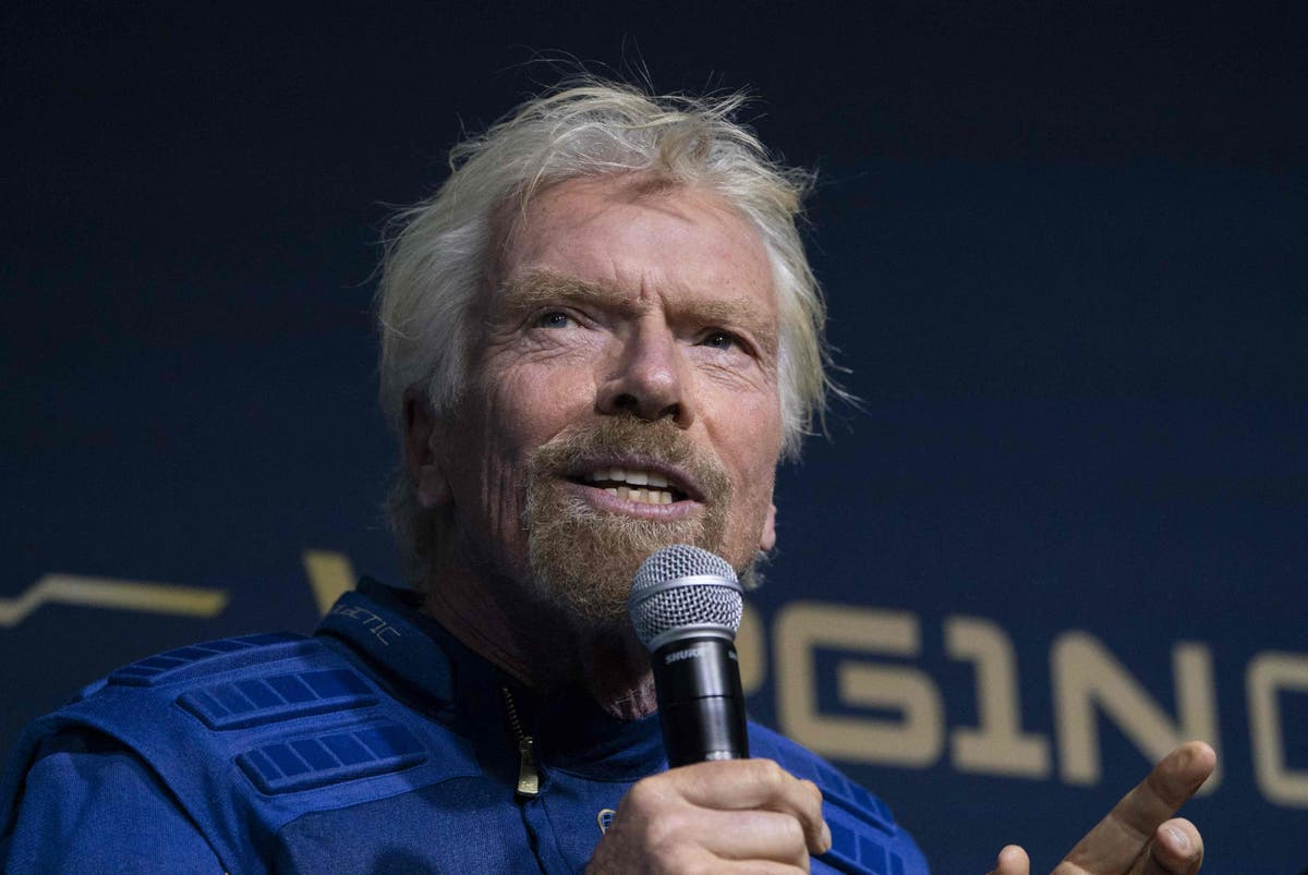 Richard Branson aims to beat Jeff Bezos into space later this month