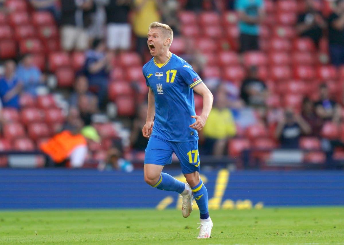 Ukraine need 'game of their lives' to beat England, Oleksandr Zinchenko admits