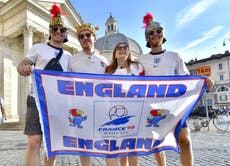 England fans make journey to Rome for Euro 2020 quarter-final with Ukraine