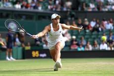 Ashleigh Barty na segunda semana em Wimbledon