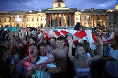 'This is wonderful, it's bonkers': Trafalgar Square erupts as England give fans reason to party