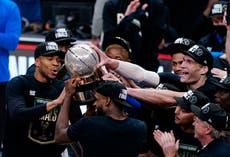 Milwaukee Bucks hold off Atlanta Hawks to clinch third NBA Finals appearance